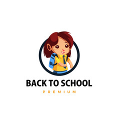 student back to school thumb up mascot character vector image