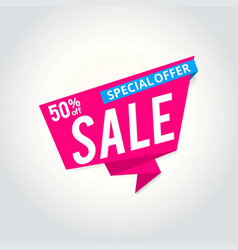 super sale poster banner big sale clearance 50 vector image