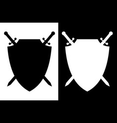 sword and shield icon vector image