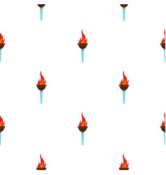 Torch pattern seamless vector