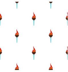 Torch pattern seamless vector