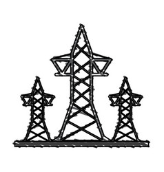 transmission towers icon image vector image