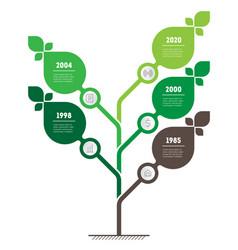 Vertical green infographics or timeline vector