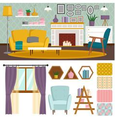 vip vintage interior furniture rich wealthy house vector image