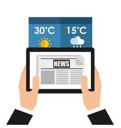 weather app technology icon vector image