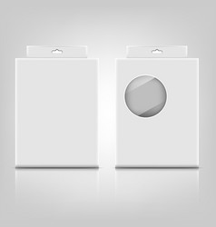 white paper packaging box with reflect on gray vector image