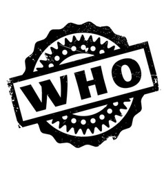Who rubber stamp vector