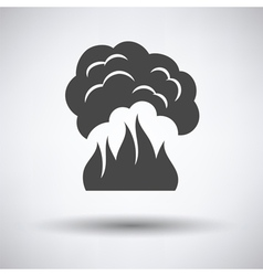 Fire and smoke icon vector image vector image