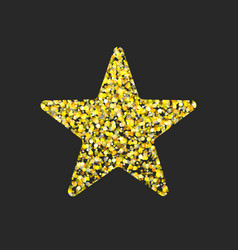 gold glitter star vector image vector image