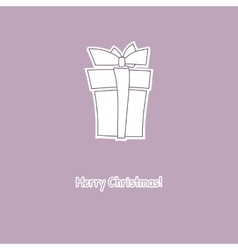 Hand drawn sketch of box gift vector image vector image