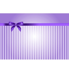 purple background with bow vector image