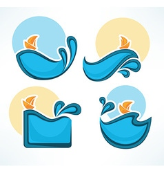 sea time vector image