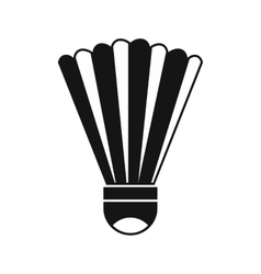 Shuttlecock icon simple style vector image