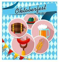 Card with Oktoberfest vector image vector image