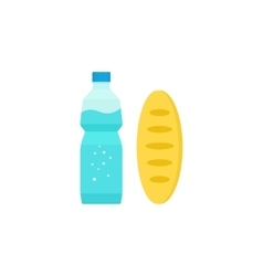Food and drinks carton milk box long vector image