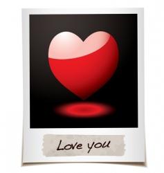 love photo vector image vector image