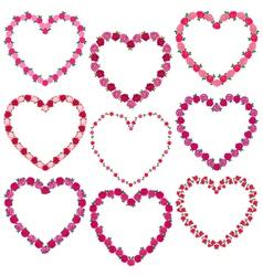 rose heart frames vector image