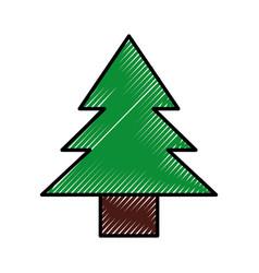 scribble cute tree cartoon vector image vector image