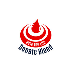 blood drop icon for donor day vector image vector image