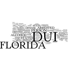 Florida dui text background word cloud concept vector