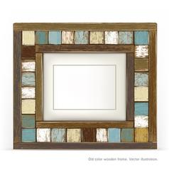 Old vintage wood frame vector image