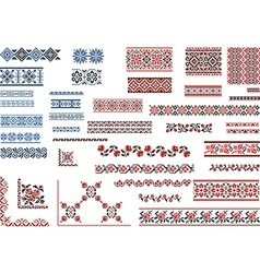 Patterns for Embroidery Stitch vector image