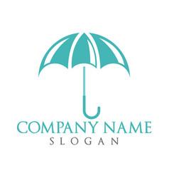 Umbrella logo design vector