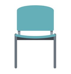 blue office metal chair icon isolated vector image vector image