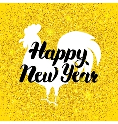 Chinese New Year Gold Poster vector image vector image