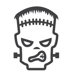 frankenstein line icon halloween and scary vector image