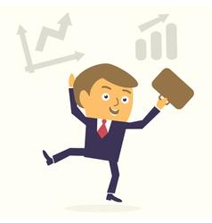 happy cartoon businessman vector image