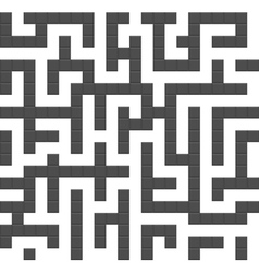 Infinite maze seamless background pattern vector image vector image