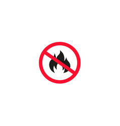 no fire sign isolated on white background vector image vector image