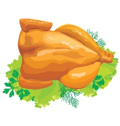 roast chicken with herbs vector image vector image