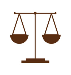 scale justice isolated icon vector image