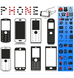 Telephone and menu vector image