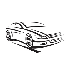 a car vector image