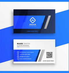 Abstract blue business card desigm vector