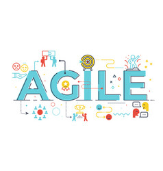 agile word lettering vector image