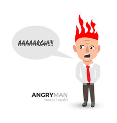 Angry man vector