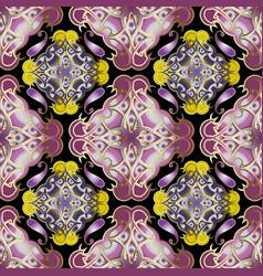 arabian style colorful paisley seamless vector image