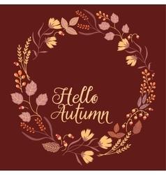 Autumn floral frame collection cute set vector