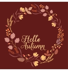 Autumn Floral Frame Collection Cute set with vector image