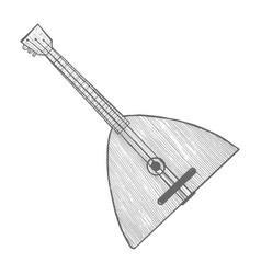balalaika in hand-drawn style vector image