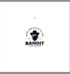 Bandit logo design template idea vector