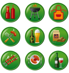 barbeque buttons vector image
