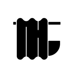 bath curtain black glyph icon vector image