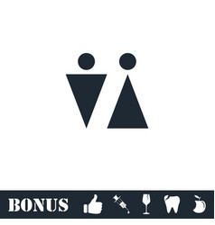 Bathroom icon flat vector