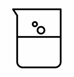 Beaker flask icon vector