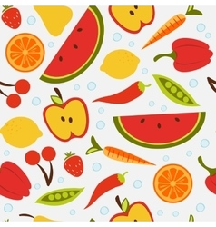 Beautiful seamless pattern with fruit and vector